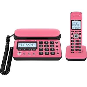 【子機1台】デジタルコードレス留守番電話機 TF-SD10S-PK(ピンク/ブラック)