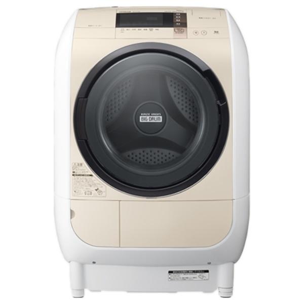 [左開き] ドラム式洗濯乾燥機 「ヒートリサイクル風アイロン ビッグドラム」(洗濯9.0kg/乾燥6.0kg) BD-V3700L-C ライトベージュ 【ヒーター乾燥機能付】