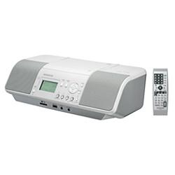 【クリックでお店のこの商品のページへ】CDラジオ(ラジオ+SD+USBメモリー+CD)(ホワイト) CLX-30-W