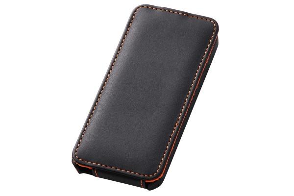 【クリックでお店のこの商品のページへ】iPhone 5s/5用 レザージャケット フラップタイプ (ブラック) RT-P5LC1/B
