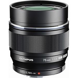 【クリックでお店のこの商品のページへ】M.ZUIKO DIGITAL ED 75mm F1.8【マイクロフォーサーズマウント】(ブラック)