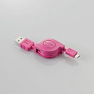 【クリックでお店のこの商品のページへ】スマートフォン用[USB microB] 充電USBケーブル (リール~0.8m・ピンク) MPA-AMBCRL08PN