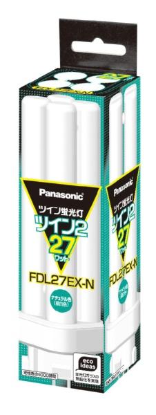【クリックで詳細表示】ツイン蛍光灯 「ツイン2」(27形・パルック色) FDL27EX-N