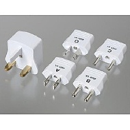 Conversion plug five set (A B C O, BF type) HPS5-WH for foreign countries