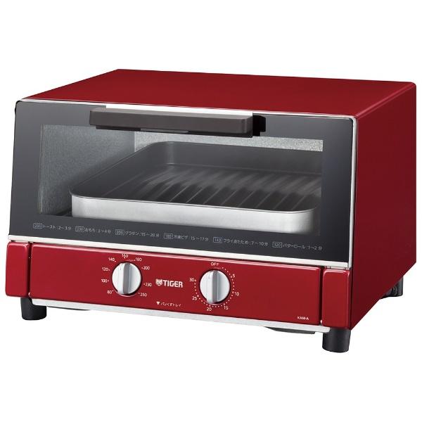 オーブントースター 「やきたて」(1300W) KAM-A130-R レッド