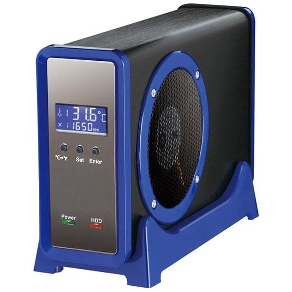 【クリックで詳細表示】USB3.0&eSATA対応 SATA3.5HDDケース 三代目冷やし系HDD検温番 SATA6G (ブルー) CLS35EU3BLF6G