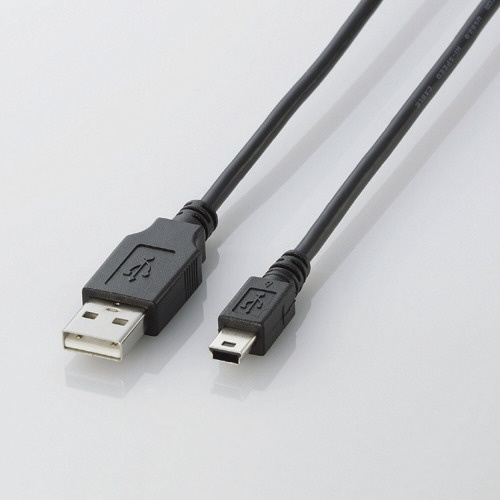 【クリックでお店のこの商品のページへ】2.0m USB2.0ケーブル 【A】⇔【miniB】U2C-M20BK