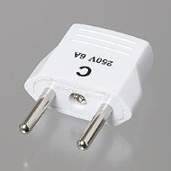 Conversion plug (C type) HP3-WH for overseas travel