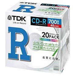 【クリックで詳細表示】48倍速対応CD-Rメディア(700MB・20枚)CD-R80PWX20A