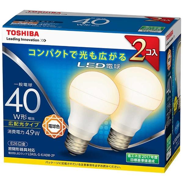 E-CORE LDA5L-G-K/40W-2P [電球色]