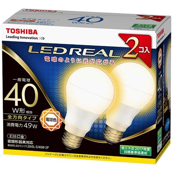 E-CORE LDA5L-G/40W-2P [電球色]