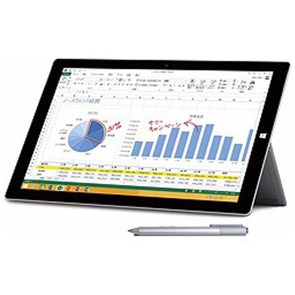 【クリックで詳細表示】Surface Pro 3 [サーフェス プロ](Core i7/512GB) 単体モデル [Office付き/Windowsタブレット] PU2-00016 (2014年モデル・シルバー)
