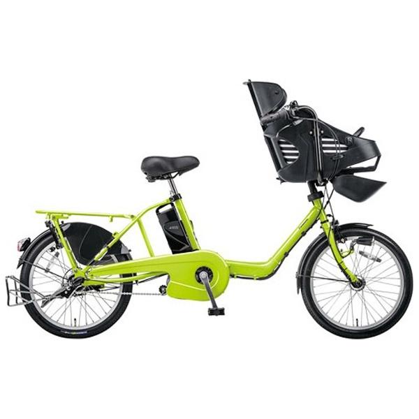 【クリックでお店のこの商品のページへ】20型 電動アシスト自転車 ギュット・ミニ・DX(フレッシュグリーン) BE-ELMD03G【2015年モデル】 BEELMD03G