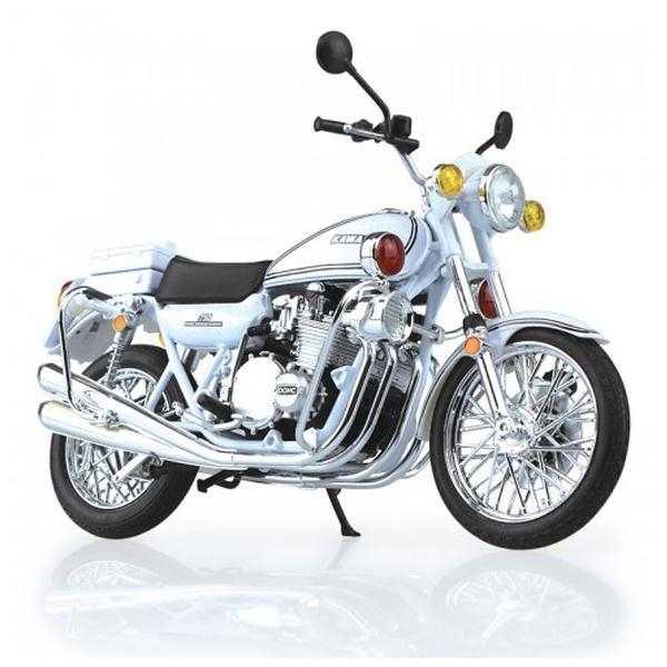 【クリックで詳細表示】完成品バイク 1/12 Kawasaki 750RS-P(Z2白バイ)