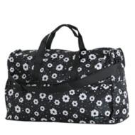 Folding large-scale Boston bag (dome type) H0004 modern flower black