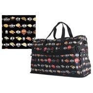 Folding large-scale Boston bag (dome type) H0004 sushi black