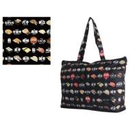 Folding tote bag H0001 sushi black