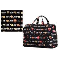 Folding Boston bag (dome type) H0002 sushi black