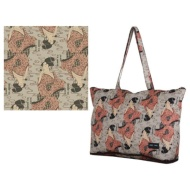 Folding tote bag H0001 vidro blows, and it is beige