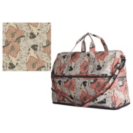 Folding Boston bag (dome type) H0002 vidro blows, and it is beige
