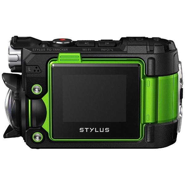 マイクロSD対応・4K動画対応 フィールドログカメラ OLYMPUS STYLUS(スタイラス) TG-Tracker(トラッカー) グリーン