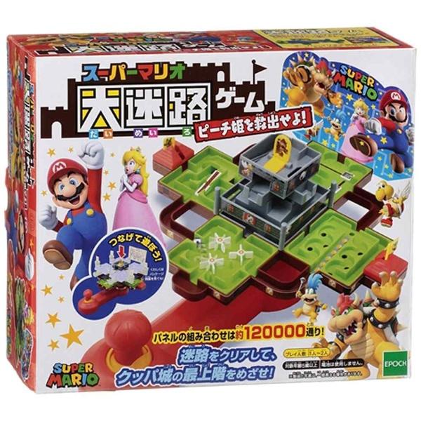 エポック社 スーパーマリオ 大迷路ゲーム ピーチ姫を...