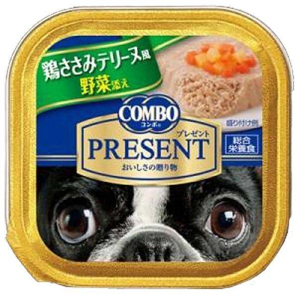 コンボ プレゼント ドッグ トレイ 鶏ささみテリーヌ風 野菜添え 90g