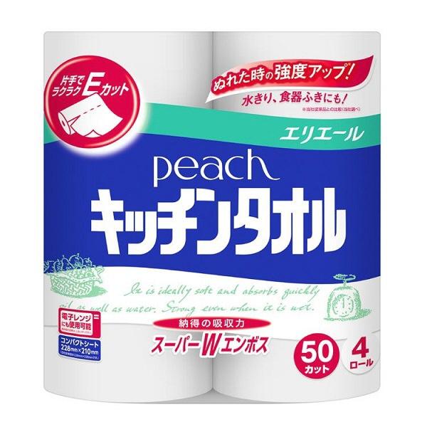 ダイオーペーパープロダクツ ピーチキッチンタオル 1パック(4ロール入)