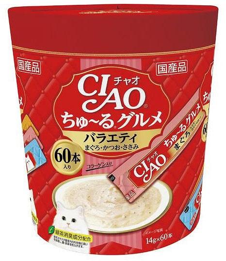 チャオ ちゅ〜る グルメ バラエティ 14gx60本 製品画像