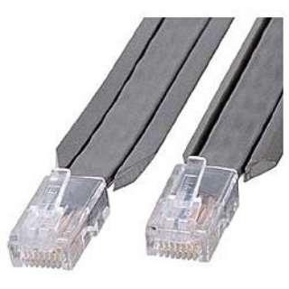 KB-CP-505 LANケーブル グレー [5m /カテゴリー5e /フラット]