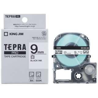 白ラベルテープ TEPRA(テプラ) PROシリーズ 白 SS9K [黒文字 /9mm幅]