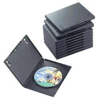 DVDトールケース 1枚組収納×10 ブラック CCD-DVD03BK