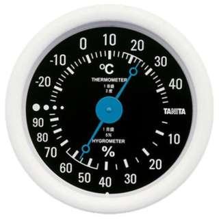 TT-515 温湿度計 ブラック [アナログ]