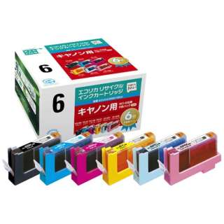 ECI-CA066P/BOX 互換プリンターインク エコリカ 6色パック