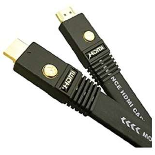 PAVA-R007 HDMIケーブル [0.7m /HDMI⇔HDMI /フラットタイプ /イーサネット対応]