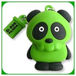 D-096 PANDA USB MEMORY D-096-P-02G [2GB 緑]