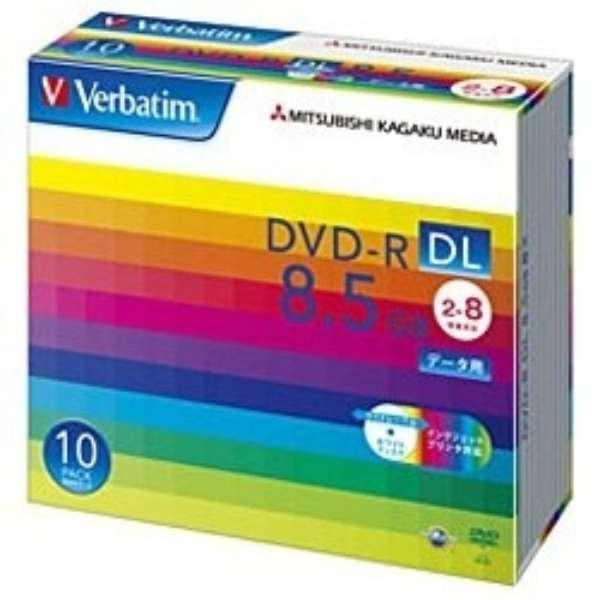 データ用DVD-R ホワイト DHR85HP10V1 [10枚 /8.5GB /インクジェットプリンター対応]