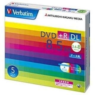 DTR85HP5V1 データ用DVD+R ホワイト [5枚 /8.5GB /インクジェットプリンター対応]