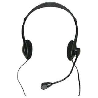 HEADSET-A010BK ヘッドセット ブラック [φ3.5mmミニプラグ /両耳 /ヘッドバンドタイプ]