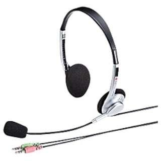 MM-HS515SV ヘッドセット シルバー[φ3.5mmミニプラグ /両耳 /ヘッドバンドタイプ]