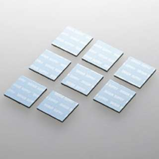 ノートパソコン冷却パッド 正方形・8枚入り (ブルー) TK-CLNP8BL