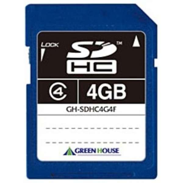 SDHCカード GH-SDHC*4Fシリーズ GH-SDHC4G4F [4GB /Class4]
