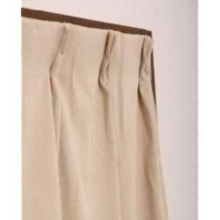 2枚組 ドレープカーテン モイス(100×200cm/ベージュ)