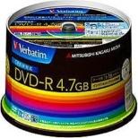DHR47JDP50V3 データ用DVD-R ホワイト [50枚 /4.7GB /インクジェットプリンター対応]
