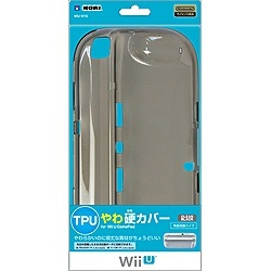 TPUやわ硬カバー for Wii U GamePad WIU-015 [クリアブラック] 製品画像