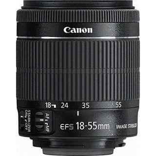 カメラレンズ EF-S 18-55mm F3.5-5.6 IS STM APS-C用 ブラック [キヤノンEF /ズームレンズ]