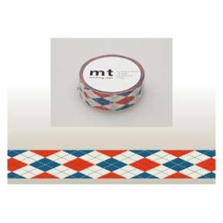 mt マスキングテープ(アーガイル・レッド) MT01D162