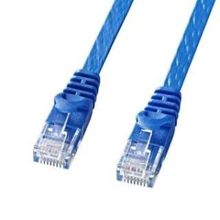 LA-FL6-15BL LANケーブル ブルー [15m /カテゴリー6 /フラット]