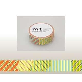 mt マスキングテープ(ストライプチェック・レッド) MT01D119