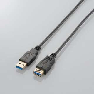 1.0m USB3.0延長ケーブル 【Aオス】⇔【Aメス】 [極細タイプ] (ブラック) USB3-EX10BK